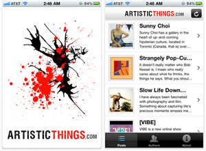 Artistic Things iPhone App